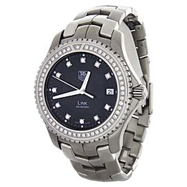 Tag Heuer WJ1117-0 Link Black Diamond Dial Stainless Steel Swiss Watch