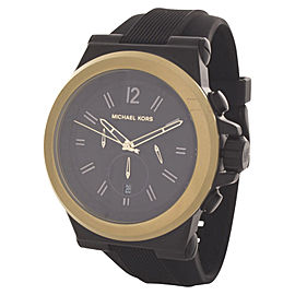 Michael Kors MK8383 Dylan Black Dial Black Silicone Strap Men's Watch