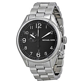 Michael Kors MK7066 Hangar Black Dial Stainless Steel Men's Watch