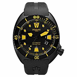 Zodiac Oceanaire ZO8017 Black Rubber Strap Mens Watch