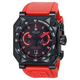 Zodiac ZO8534 ZMX Adventure Chrono Analog Display Swiss Quartz Red Mens Watch