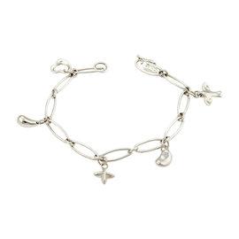Tiffany & Co. Elsa Peretti 925 Sterling Silver Icons Charm Bracelet