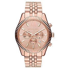 Michael Kors MK8319 Oversize Rose Golde Lexington Chronograph Women's Watch