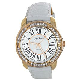 Anne Klein 10-9825MPTR Swarovski Crystal Accented Leather Strap Womens Watch