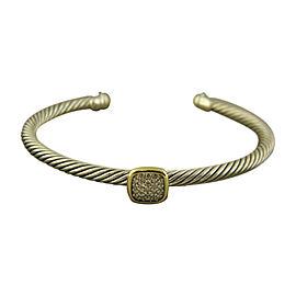 David Yurman 925 Sterling Silver & 18K Yellow Gold Diamonds Noblesse Bracelet