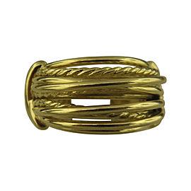 David Yurman 18K Yellow Gold Wide Dome Ring Size 7