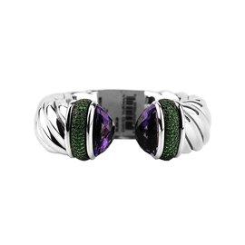 David Yurman Cable Classic Amethyst Tsavorite Garnet Bracelet