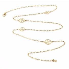 Roberto Coin Enamel 18K Yellow Gold Bollicine Chain Necklace