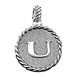 "David Yurman 925 Sterling Silver Amazing Solid Initial ""U"" Round Pendant"