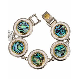 Gurhan Sterling Silver 24K Yellow Gold Abalone Shell Bracelet