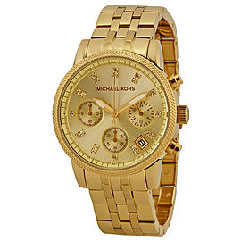 Michael Kors Ritz MK5676 Gold Tone Stainless Steel 36mm Womens Watch