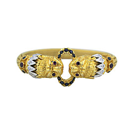 Lalaounis 18K Yellow Gold Diamond, Ruby, Sapphire Bracelet