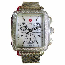Michele Deco 71-6000 Stainless Steel & Diamond Quartz 33mm Womens Watch