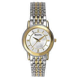 Bulova 98V29 Two-Tone Stainless Steel Quartz 27mm Womens Watch