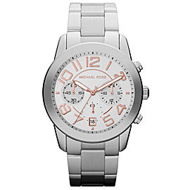Michael Kors MK5725 Mercer Stainless Steel Silver Dial Quartz 42mm Women's Watch