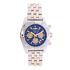 Breitling Chronomat IB0110 Stainless Steel & 18K Yellow Gold Blue Dial Automatic 42mm Mens Watch