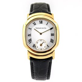 Tiffany & Co. Timepieces M-163 18K Yellow Gold & Leather Quartz 31mm Mens Watch