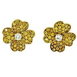 Van Cleef & Arpels Cosmos 18K Yellow Gold and Diamond Earrings