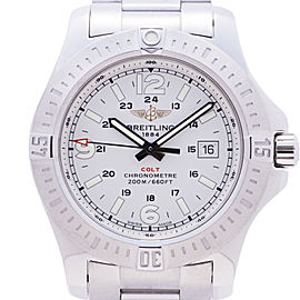 Breitling Colt A74388 Stainless Steel White Dial 44mm Mens Watch