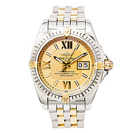 Breitling Windrider B49350 18K Yellow Dial / Stainless Steel 41mm Mens Watch