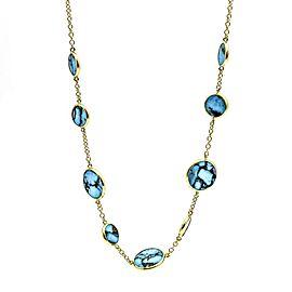 Ippolita Turquoise Slice Station 18K Yellow Gold Necklace