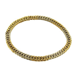 Mario Buccellati Braided 18K Two Tone Gold Curb Link Necklace