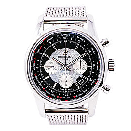 Breitling Transocean AB0510 Stainless Steel Automatic 46mm Mens Watch