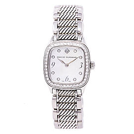David Yurman Thoroughbred T304-XSST Stainless Steel White Mother of Pearl Dial 25mm Womens Watch