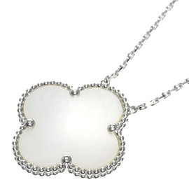 Van Cleef & Arpels 18K White Gold Magic Alhambra Necklace