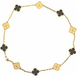 Van Cleef & Arpels Bois d'Amourette 18K Rose Gold Alhambra Necklace
