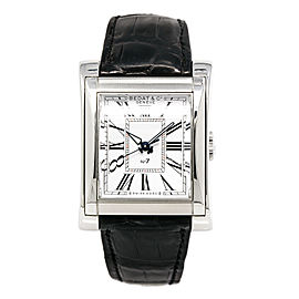 Bedat & Co. No.7 767.010.100 Stainless Steel & Leather White Dial Automatic 32mm Mens Watch