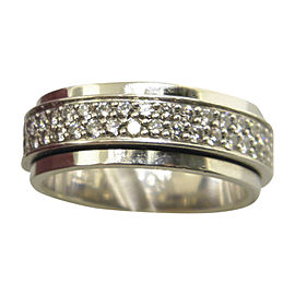 Piaget Possession 18K White Gold with Diamond Band Ring Size 7.5