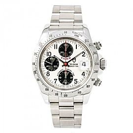 Tudor Prince Date 79260P Stainless Steel Silver Dial Automatic 40mm Mens Watch