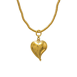 H. Stern Diane Von Furstenberg 18K Yellow Gold Heart Necklace