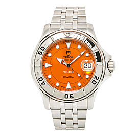 Tudor Prince Date 89190 Stainless Steel with Orange Dial Automatic 40mm Mens Watch