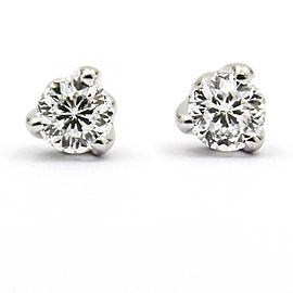 Roberto Coin Cento 18K White Gold 0.48ct Diamond Stud Earrings