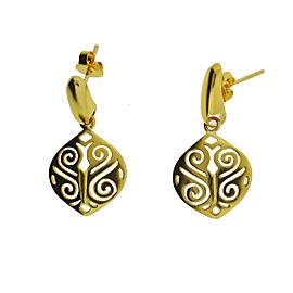 18k Yellow Gold Greek Style Drop Earrings