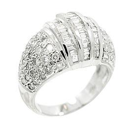 14K White Gold & 2.89ct. Diamond Ring Size 7