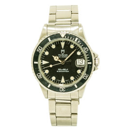 Tudor Prince Date Submariner 75090 Stainless Steel with Black Dial Automatic 36mm Mens Watch