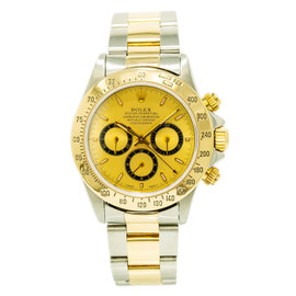 Rolex Daytona Zenith 16523 Stainless Steel / 18K Yellow Gold with Champagne Dial Automatic 40mm Mens Watch