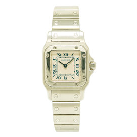 Cartier Santos 1565 Stainless Steel with Cream Dial 23mm Womens Watch