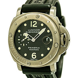 Panerai Luminor Submersible PAM00025 Titanium / Rubber/Silicon with Black Dial Automatic 44mm Mens Watch