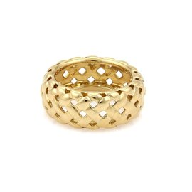 Tiffany & Co. Vannerie 18K Yellow Gold Band Ring Size 6