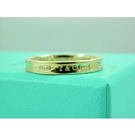 Tiffany & Co. 1837 18K Yellow Gold Narrow Band Ring Size 12.5