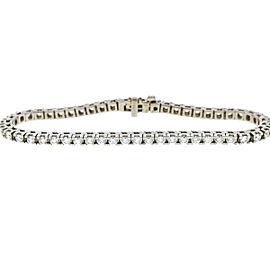 14K White Gold 3.65ct. Diamond Tennis Bracelet