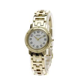 Hermes Clipper CL4.285 18K Yellow Gold Quartz 24mm Womens Watch