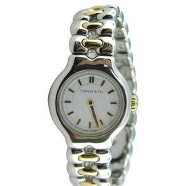 Tiffany & Co. Tesoro L0112 Stainless Steel / 18K Yellow Gold Quartz 24mm Womens Watch