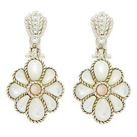 Judith Ripka Sterling Silver Mother Of Pearl Earrings