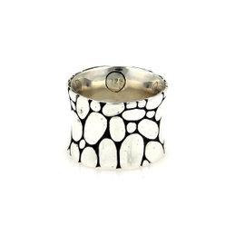 John Hardy Kali Pebble 925 Sterling Silver Band Ring Size 5.75