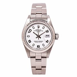 Rolex Date 79160 Stainless Steel and 18K White Gold 26mm Automatic Womens Watch